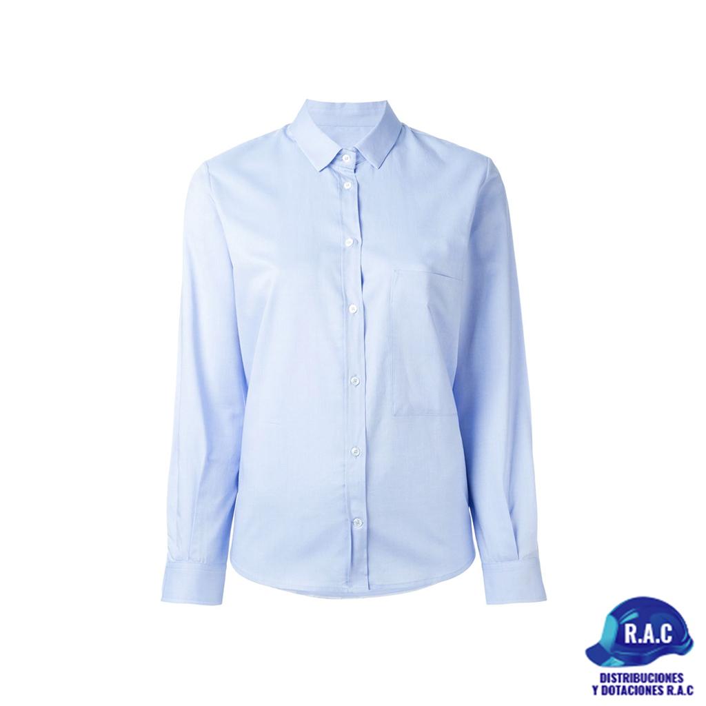 d3f149203edf Camisa Para Dama En Oxford Azul