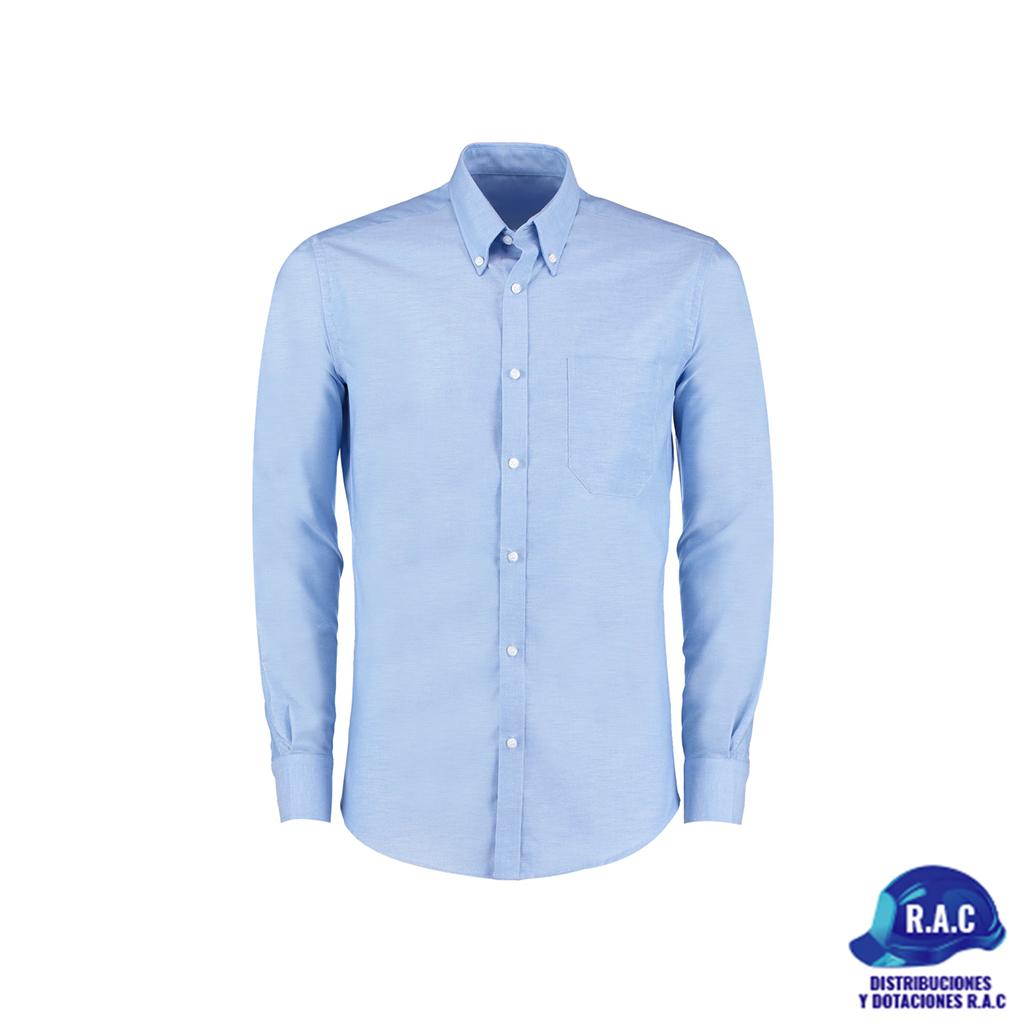 e5d383062d75 Camisa Para Hombre En Oxford Azul